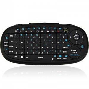 Eboard CE Compact Mini Smart Handheld Air Mouse Bluetooth Keyboard Combo Nano Receiver (Black)