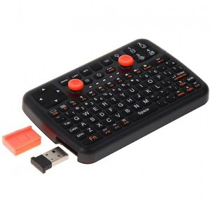 K6 3-IN-1 Innovation Mini Bluetooth 3.0 Wireless Keyboard Mouse Game Pad with laser Light (Black)