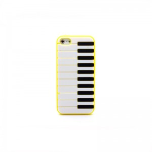 Protective Piano Keyboard Style Back Cover Case for iPhone 5