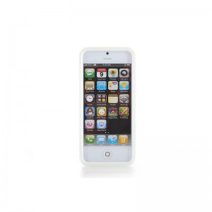 Protective Silicone Bumper Frame Case for iPhone 5 (White)