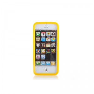 Protective Silicone Bumper Frame Case for iPhone 5 (Yellow)
