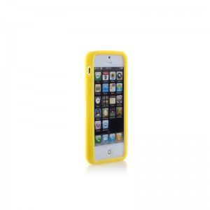Rubber Protective Case for iPhone 5 (Yellow)