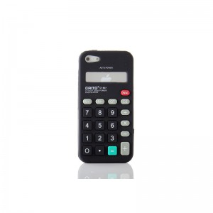 Calculator Style Protective Silicone Case for iPhone 5 (Black)