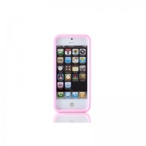 Calculator Style Protective Silicone Case for iPhone 5 (Pink)