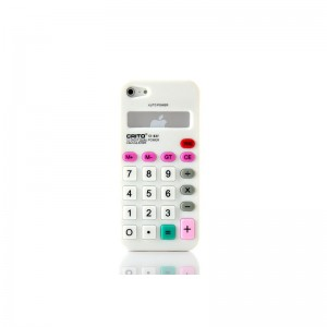 Calculator Style Protective Silicone Case for iPhone 5 (White)