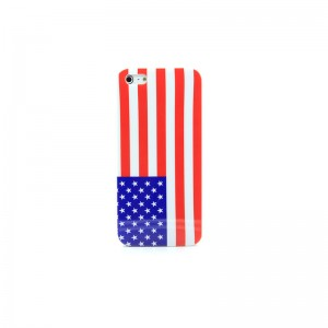 American Flag Pattern PVC Protective Case for iPhone 5