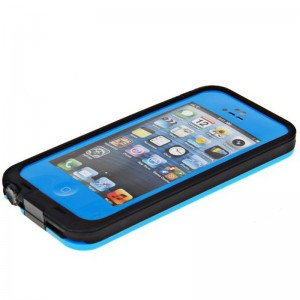 Cool Airtight Tough Protective Waterproof Plastic Case for iPhone 5 (Blue)