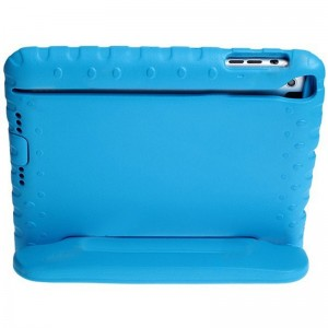 Falling Preventing and Shock Resistant Silicone Soft Back Cover Case for iPad Mini (Blue)