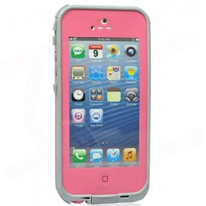 Ipega I5008 Fashion Airtight Tough Protective Waterproof Plastic Cover Case for iPhone 5 (Pink)