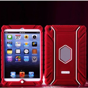 HOCO Falling Preventing and Shock Resistant Silicone Soft Back Cover Case for iPad Mini (Red)