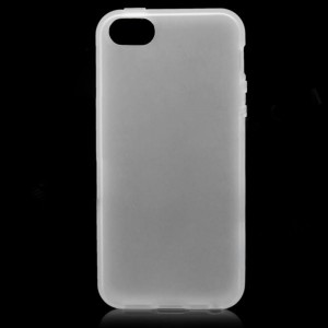 Protective Soft Plastic Back Case for iPhone 5 - White