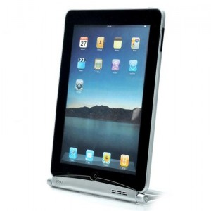 Folding Charging Docking Station Stand Holder for iPad / iPad 2 - Silver