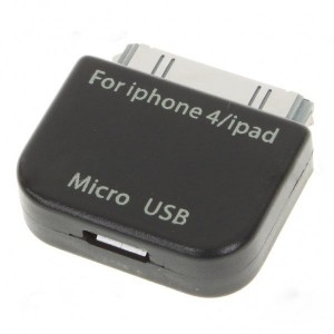 Micro 5-Pin Converter Adapter for iPad/iPhone - Black