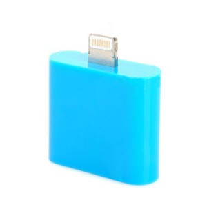 8-pin Lightning Male to Female Charging / Data Adapter for iPhone 5 / iPod Touch 5 + More - Blue
