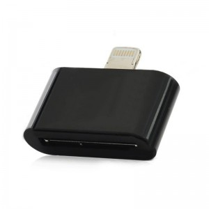 30-Pin Female to 8-Pin Lightning Male Data Transfer / Charging adapter for iPhone 5 - Black