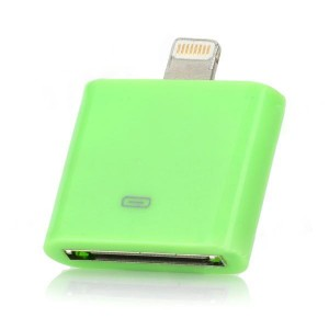 Apple 30-Pin Female to 8-Pin Lightning Male Adapter for iPhone 5 / iPad Mini / 4 - Green