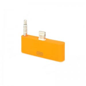 8 Pin Lightning to 30 Pin Female Adapter w/ 3.5mm Audio Output for iPhone 5 / iPod Touch 5 - Orange
