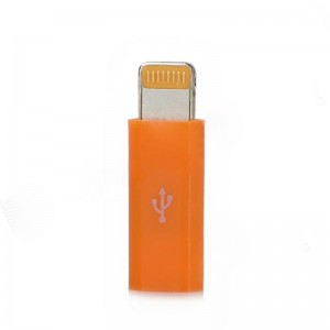 Micro USB Female to 8-Pin Lightning Data / Charging Adapter for iPhone 5 / iPad 4 - Orange