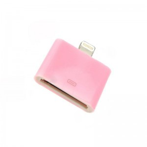 Mini Apple 30Pin Female to 8Pin Lightning Male Adapter for iPhone 5 - Pink