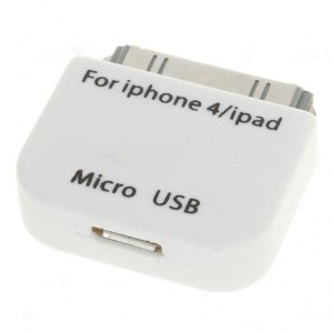 Micro 5-Pin Converter Adapter for iPad/iPhone - White