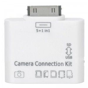 5 in 1 Camera Connection Kit SD / MMC / MS / TF / M2 Card Reader for iPad / iPad 2 - White