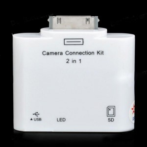 Camera Connection Kit with Card Reader for iPad - White (USB / SD)