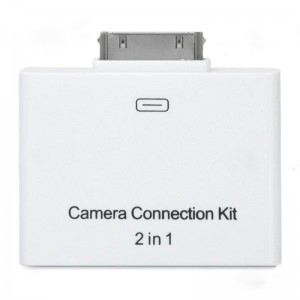 THT-002 2-in-1 USB 2.0 SD Card Reader for iPad - White
