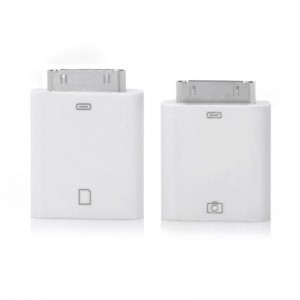 iPad to USB + iPad to SD Camera Connection Kit for iPad - White (2-Piece)