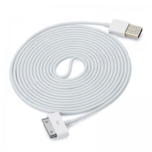 IMOS Dock Connector to USB Cable for iPhone / iPod / iPad - White (3m)