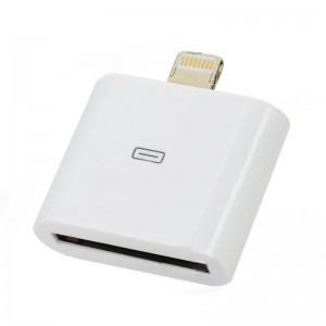 8-Pin Lightning Male to 30-Pin Female iPhone Adapter - White