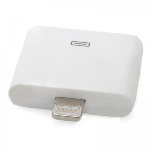 30-Pin Female to 8-Pin Lightning Male Data Transfer / Charging Adapter for iPhone 5 - White