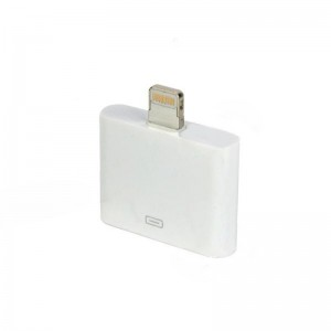 Lightning 8-Pin Male to Apple 30-Pin Adapter w/ Analog Audio Output for iPhone 5 - White