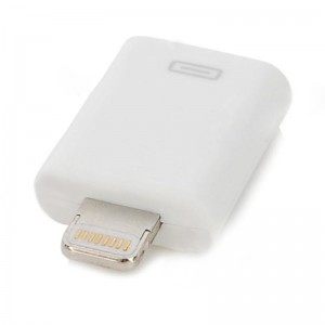 Micro USB Female to 8-Pin Lightning Charging / Data Adapter for iPhone 5 - White