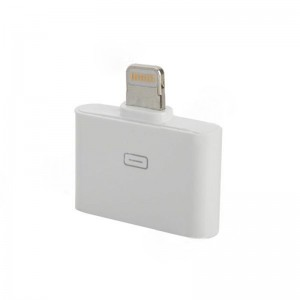 30-Pin Female to Lightning 8-Pin Male Adapter for iPhone 5 - White
