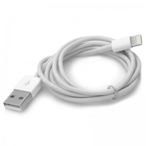 USB Male to 8 Pin Lightning Male Data Sync / Charging Cable for iPhone 5 - White (100cm)