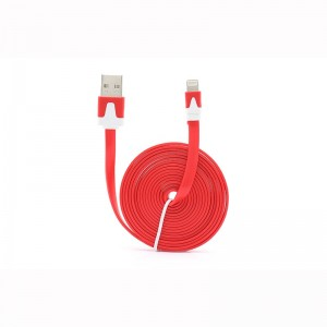 Flat Lightning Male to USB Male Data Sync / Charging Cable for Apple iDevices (198cm)