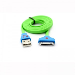 USB Male to Apple 30-Pin Male Flat Charging / Data Cable for iPhone 4 / 4S / 3 / iPad