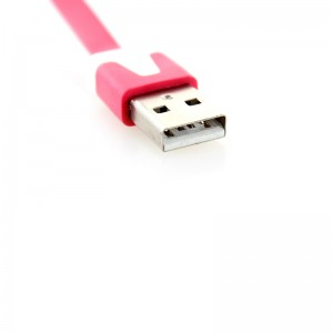 Flat USB Data/Charging Cable for iPhone iPod - Red (300cm)