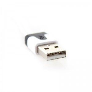 Flat USB Data/Charging Cable for iPhone iPad - White (300cm)