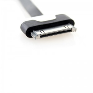 Flat USB Data/Charging Cable for iPhone iPod - Black (300cm)