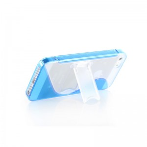 Protective TPU Case with Retractable Stand for iPhone 5 (Blue)