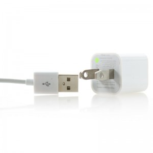 USB AC Power Adapter + USB to 30-Pin Dock / Charging Cable for Apple