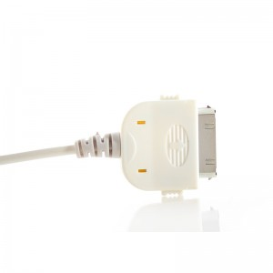 1000mAh Car Charger for iPhone - White (DC 12~24V)