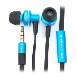Awei In-Ear Earphone w/ Microphone for iPhone / iPad / iPod / iPod Touch - Blue (3.5mm Jack 120cm)