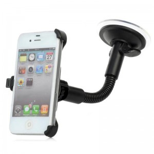 LSON 4G 360 Degree Rotational Car Mount Holder w/ Suction Cup for iPhone 4 / 4S - Black