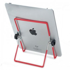 Stainless Steel Folding Stand Holder for iPad/iPad 2 & Other Tablet PC - Red