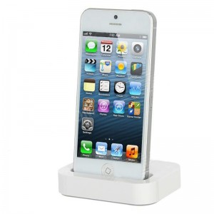 Portable Desktop Charger Dock Station for iPhone 5 - White
