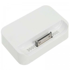 Charging Docking Station with 3.5MM Line Out for iPhone 4 - White