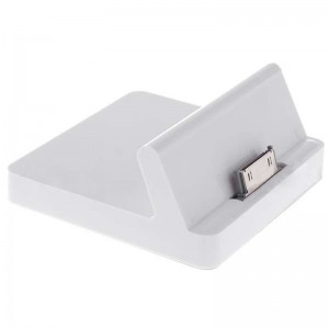 USB Data Charging + 3.5mm Line Out Docking Station for iPad - White