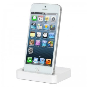 8-Pin Lightning Data / Charging Docking Station for iPhone 5 - White